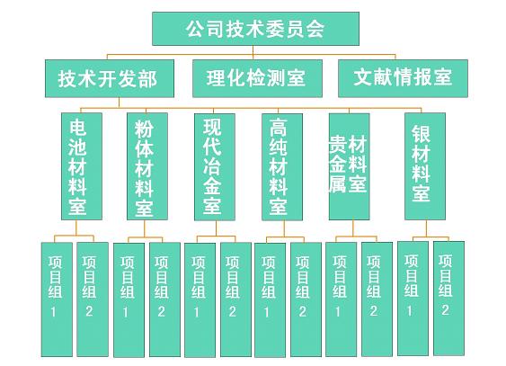 研究开发体系组织结构图